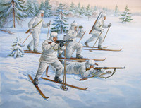WWII Soviet Ski Troops (5) (Snap Kit) 1/72 Zvezda