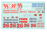 1956 Ford Curtis Turner Race Car Graphics 1/24-1/25 Gofer Racing Decals