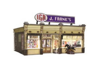 J. Franks' Grocery Building O Scale Woodland Scenics