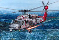 "MH60S HSC9 ""Tridents"" USN Sea Combat Helicopter 1/35 Academy"