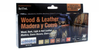 Wood & Leather Model Color Paint Set Vallejo