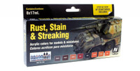Rust, Stain, & Streaking Model Color Paint Set Vallejo