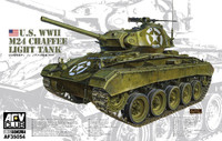 WWII US M24 Chaffee Light Tank 1/35 AFV Club