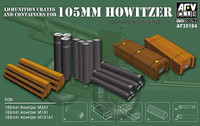 Ammo Crates & Containers for 105mm Howitzer 1/35 AFV Club