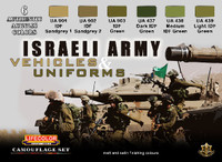 Israeli Army Vehicles and Uniforms Acrylic Paint Set Lifecolor