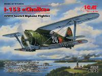 I-153 Chaika WWII Soviet BiPlane Fighter 1/72 ICM Models