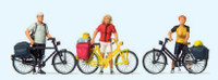 Cyclists Standing w/ Bicycles (3) HO Scale Preiser