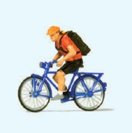 Bicycle Courier HO Scale Preiser