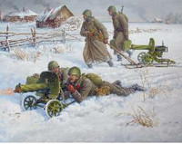 WWII Soviet Maxim Machine Gun with Crew 1941-43 (Snap Kit) 1/72 Zvezda