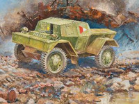 British Dingo Mk.I Armored Scout Car (Snap Kit) 1/100 Zvezda