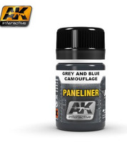 Air Series: Panel Liner for Gray & Blue Camouflage 35ml Enamel AK Interactive