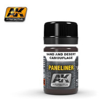 Air Series: Panel Liner for Sand & Desert Camouflage 35ml Enamel AK Interactive