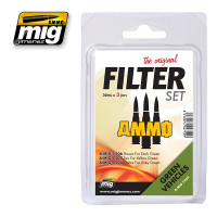 Filter Set for Green Vehicles Ammo of Mig Jimenez