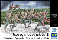 Move, Move, Move! US Soldiers Operation Overlord Period 1944 1/35 Master Box