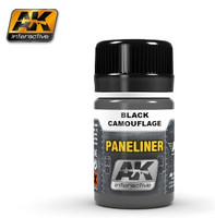 Air Series: Panel Liner for Black Camouflage 35ml Enamel AK Interactive