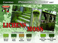Lichens & Moss Powder & Color Acrylic Set (6 22ml Bottles) Lifecolor