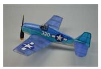 "18"" Wingspan F6F Hellcat Rubber Pwd Aircraft Laser Cut Kit Dumas"