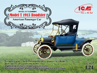 Model T 1913 Roadster American Passenger Car 1/24 ICM Models