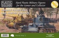 WWII German Panzer 38(t) Tank/Marder Variants (5) & Crew 15mm Plastic Soldier
