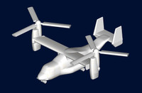 MV-22 Osprey Tiltrotor Aircraft Set for Aircraft Carriers 6-Pack 1/700 Trumpeter
