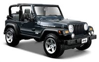 Jeep Wrangler Rubicon Die-Cast Metallic Dark Blue 1/27 Maisto