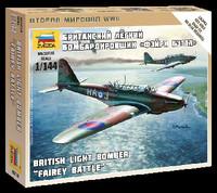 British Fairey Battle Light Bomber (Snap Kit) 1/144 Zvezda