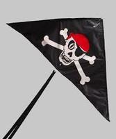 "Skull 'n Cross Bones Ripstop Nylon Kite (50"" x 24"") Gayla Kites"