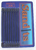 "Sandits: 120/180 Grit Flat Tip Sanding Stick w/Plastic Stem (5.5"") (8/Pk) Hobby Stix"