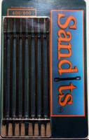 "Sandits: 400/800 Grit Round Tip Sanding Stick w/Plastic Stem (5.5"") (8/Pk) Hobby Stix"