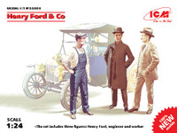 Henry Ford & Co. Figure Set (3) 1/24 ICM Models