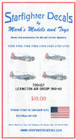 USS Lexington Air Group 1941-1942 for TSM 1/700 Starfighter Decals