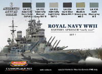 Royal Navy WWII Eastern Approach Early War Camouflage Paint Set #1 Lifecolor