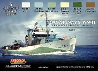 Royal Navy WWII Western Approach Late War Camouflage Paint Set #2 Lifecolor