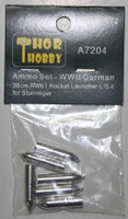 WWII German Sturmtiger 38cm RW61 Rocket Launcher L/5.4 Aluminum Ammo Set 1/72 Thor Hobby