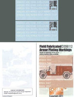 Field Fabricated Armor Plating Markings 1/35 Echelon Decals