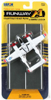 P-38J Lightning WWII Fighter (Red Wingtips) Diecast Plane Runway 24