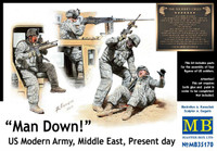 'Man Down!' US Modern Army Middle East 1/35 Master Box