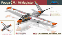 Fouga CM.170 Magister 2-Seater French Jet Trainer 1/48 AMK Model Kits