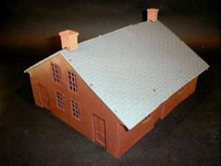 American Civil War House (Brown) 54mm Playsets