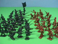 Alamo Texian Soliders & Mexican Troops Figure Playset (50pcs) 54mm Playsets
