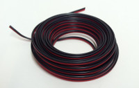 2-Conductor Stranded Copper Plastic Coated Wire Red-Black 16'/Roll Stevens Motors