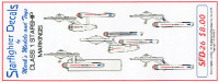 Star Trek: Class I Starship Markings for 5 Ships Starfighter Decals