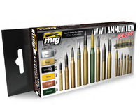 WWII Ammunition Colors Paint Set Ammo of Mig Jimenez
