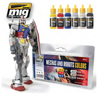 Mechas & Robots Paint Set Ammo of Mig Jimenez