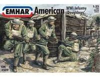 WWI American Doughboys Infantry 1/35 Emhar
