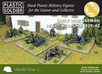 Early War German Infantry Heavy Weapons 1939-42 15mm Plastic Soldier
