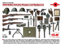 WWI Italian Infantry Weapons & Equipment 1/35 ICM Models
