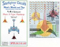 Star Trek: More K-Type Markings for 4-8 Ships Starfighter Decals
