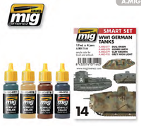 WWI German Tanks Paint Set Ammo of Mig Jimenez