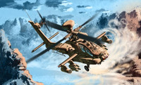 AH-64D Apache Block II early Version Helicopter 1/72 Academy